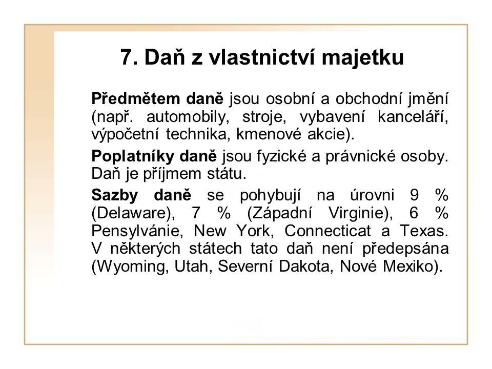 7. Daň z vlastnictví majetku