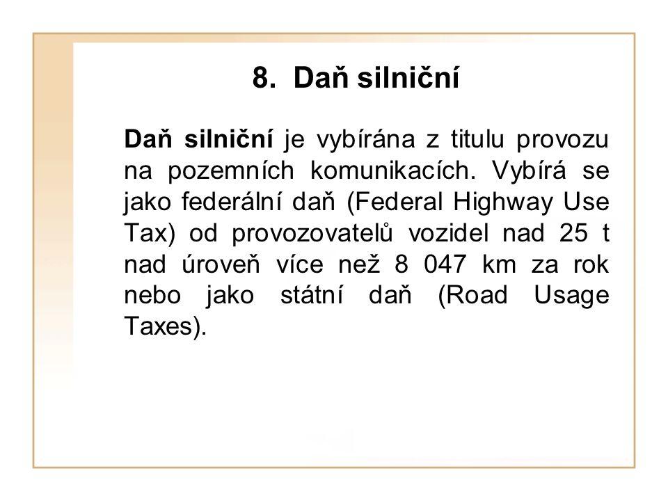 8. Daň silniční