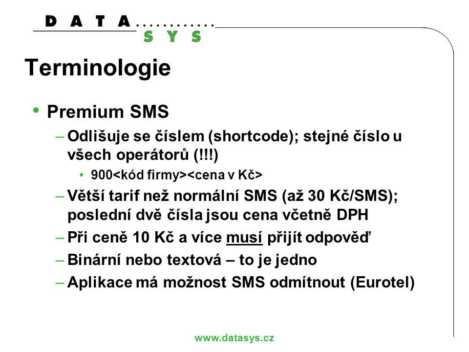 Terminologie Premium SMS