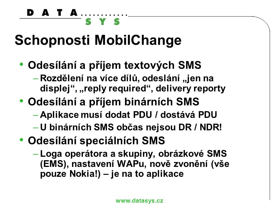 Schopnosti MobilChange