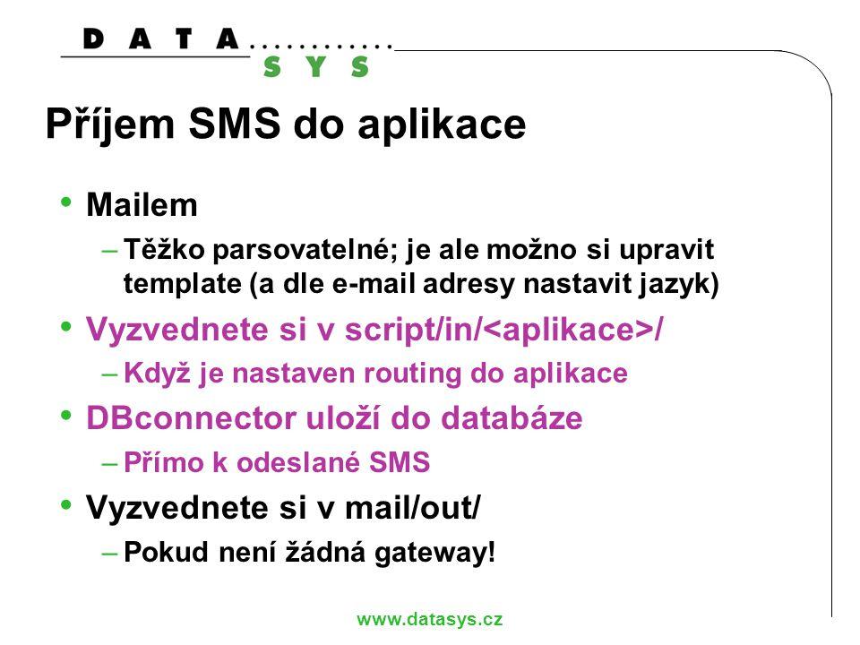 Příjem SMS do aplikace Mailem