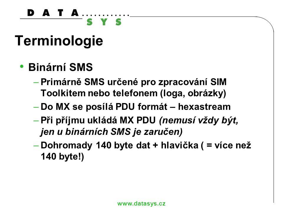 Terminologie Binární SMS