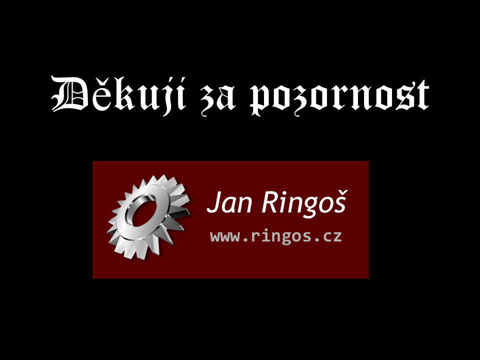 Děkuji za pozornost Jan Ringoš www.ringos.cz