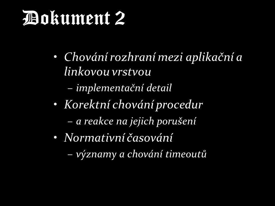 Dokument 2 Chování rozhraní mezi aplikační a linkovou vrstvou