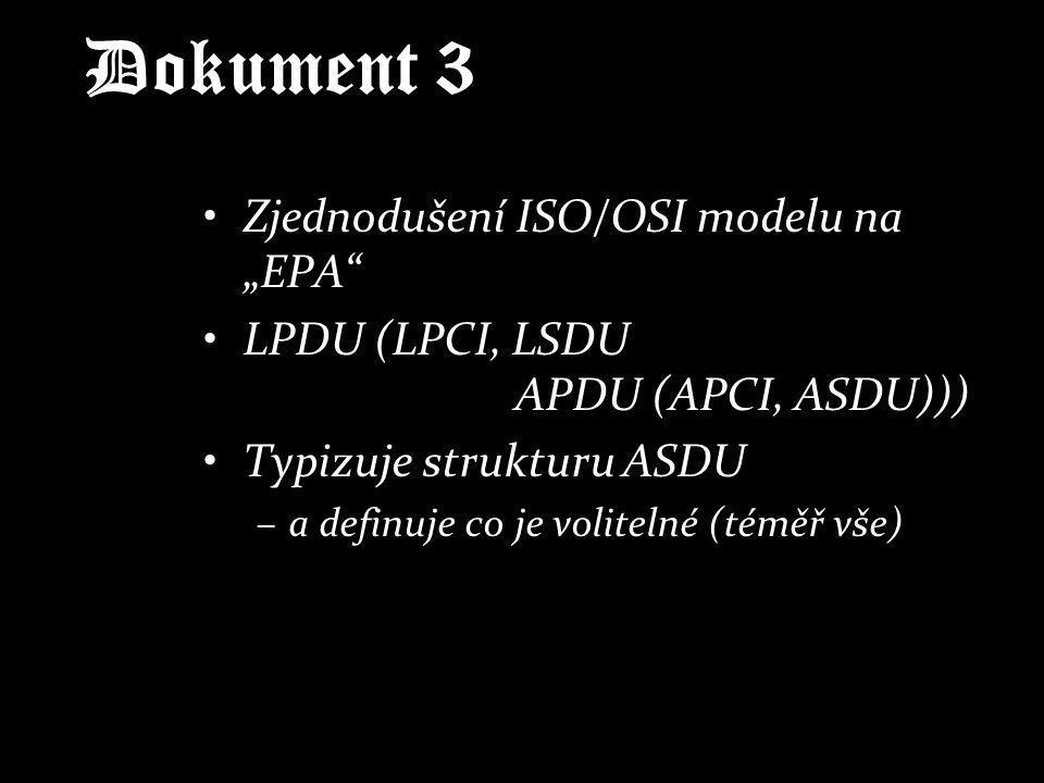 """Dokument 3 Zjednodušení ISO/OSI modelu na """"EPA"""