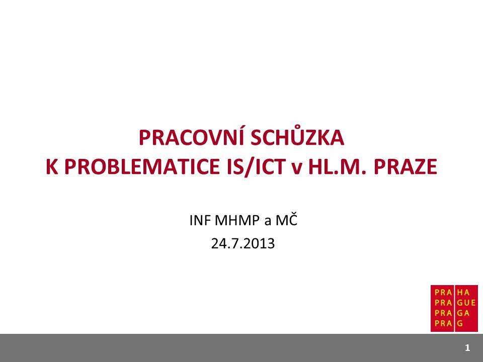 PRACOVNÍ SCHŮZKA K PROBLEMATICE IS/ICT v HL.M. PRAZE