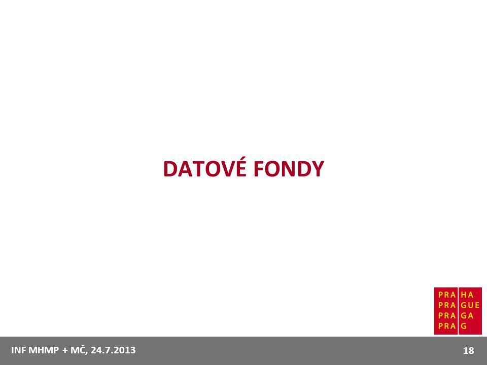 DATOVÉ FONDY INF MHMP + MČ, 24.7.2013 18