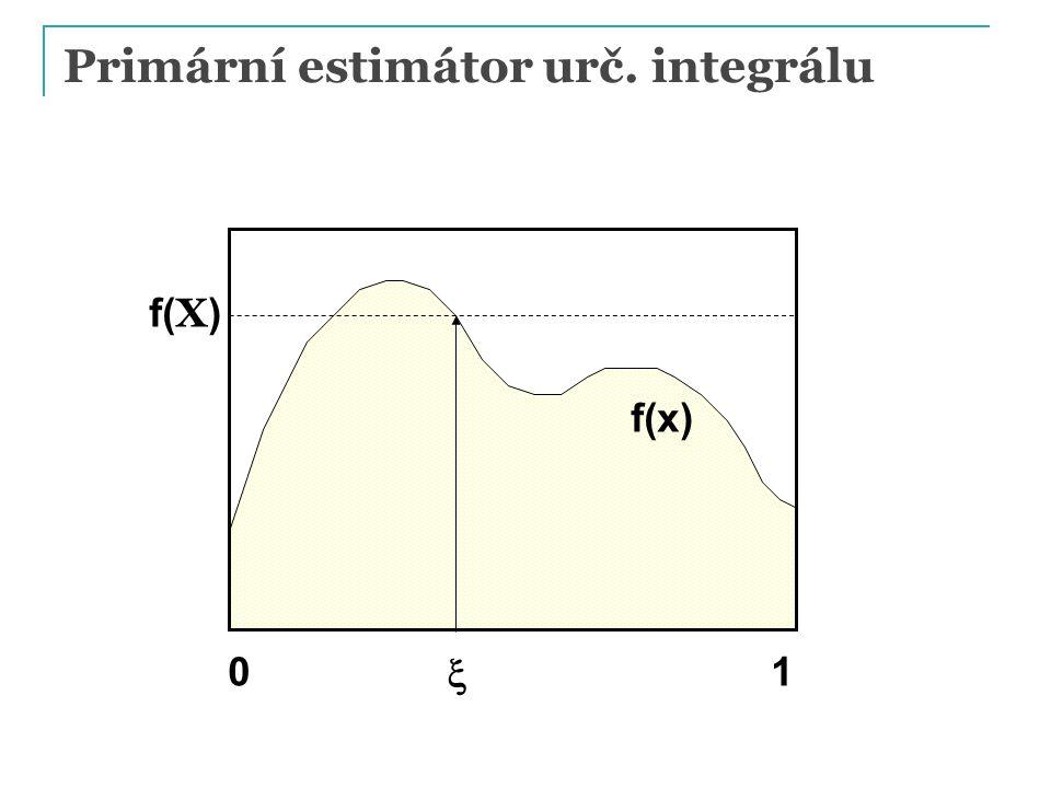 Primární estimátor urč. integrálu