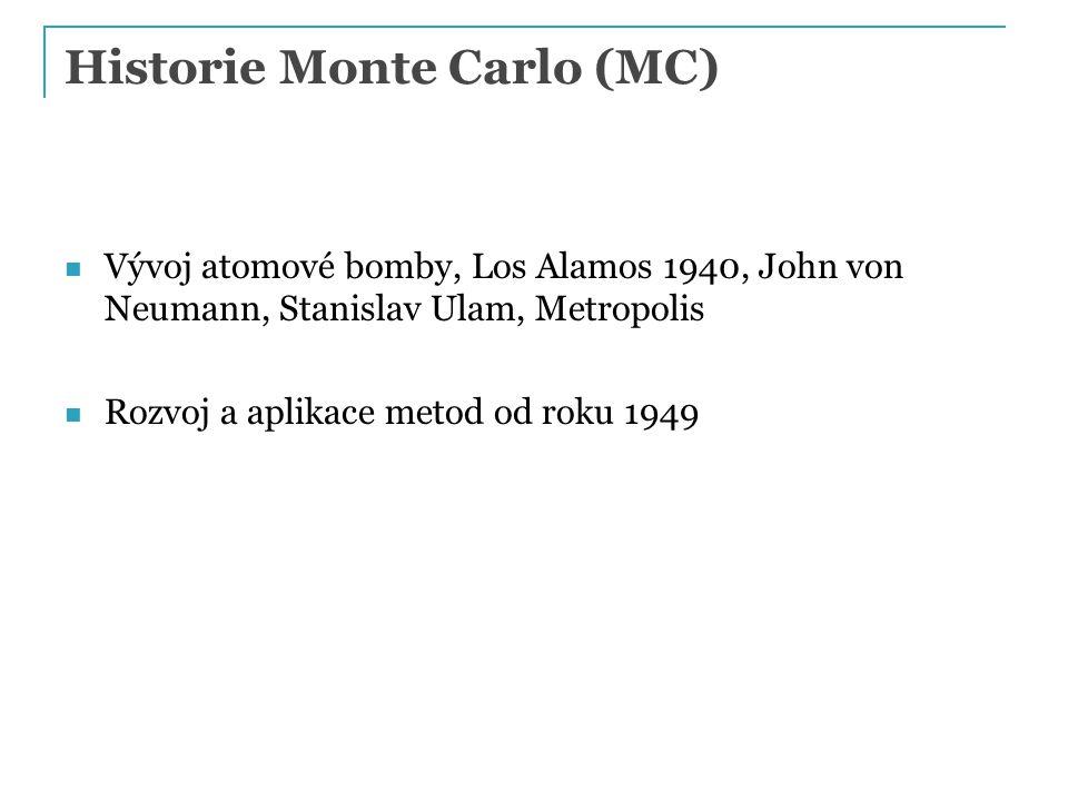 Historie Monte Carlo (MC)