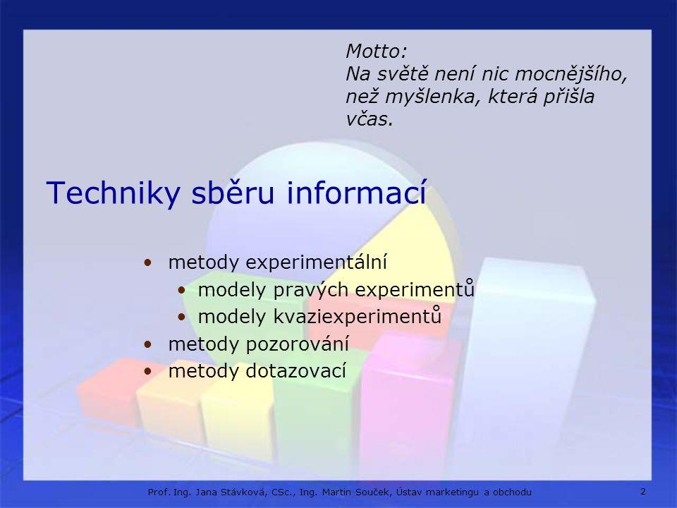 Techniky sběru informací