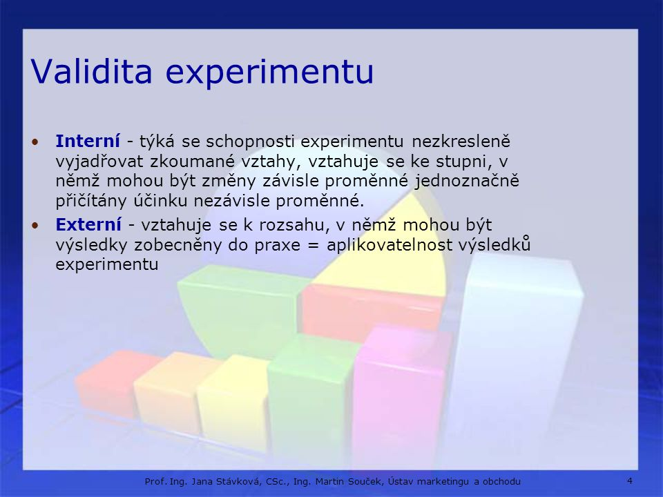 Validita experimentu