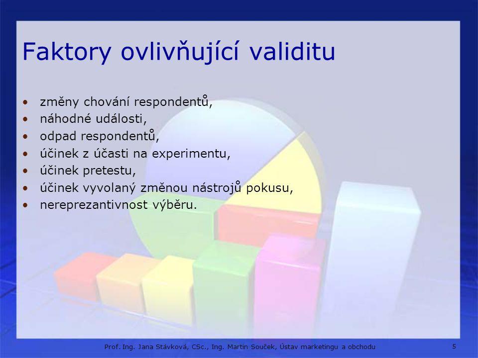 Faktory ovlivňující validitu