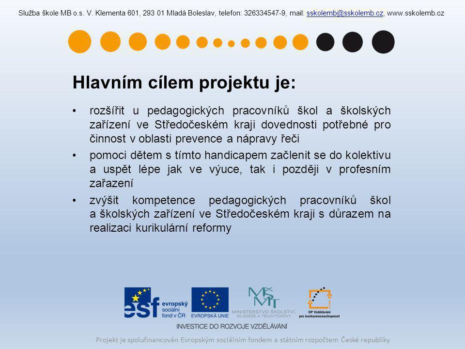 Hlavním cílem projektu je: