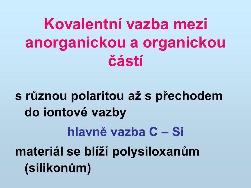 Kovalentní vazba mezi anorganickou a organickou částí