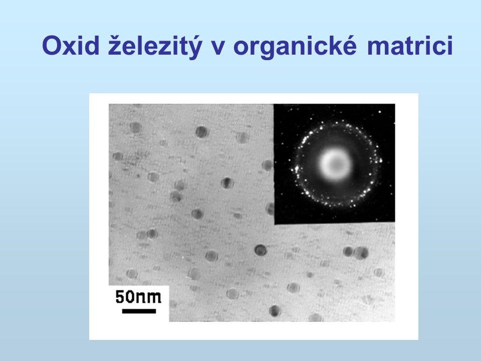 Oxid železitý v organické matrici