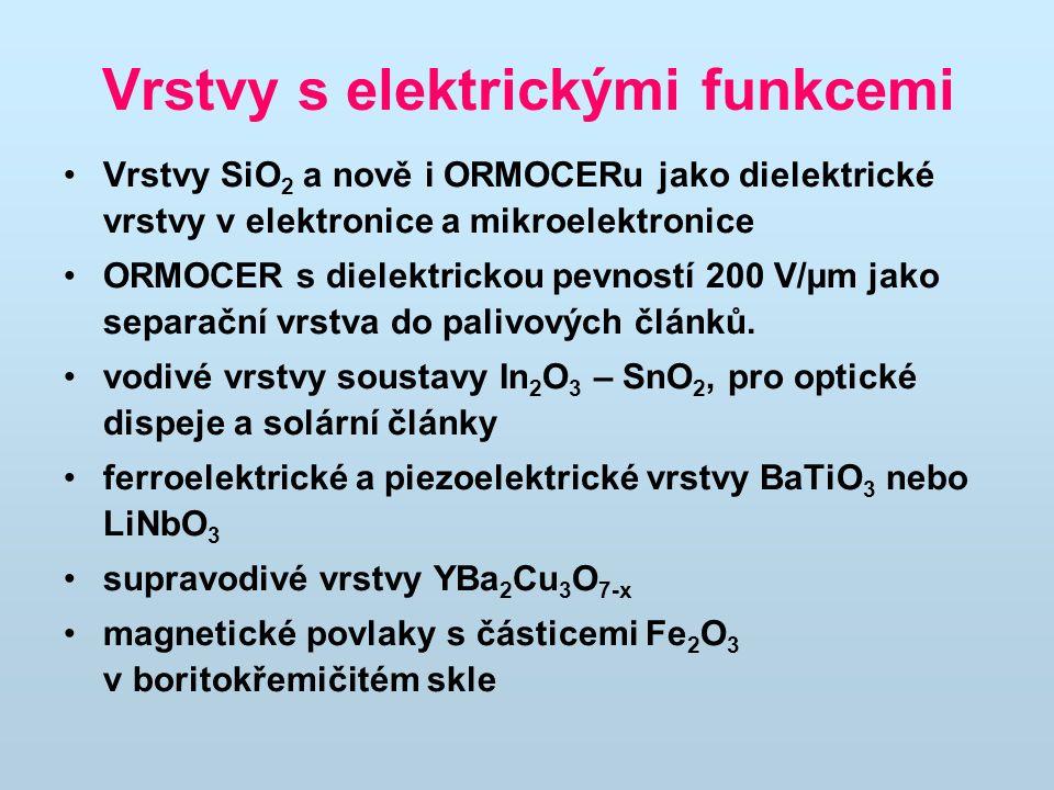 Vrstvy s elektrickými funkcemi
