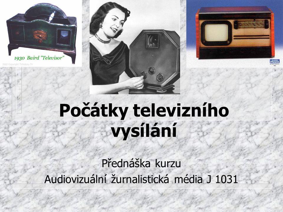 Počátky televizního vysílání