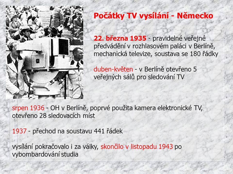 Počátky TV vysílání - Německo