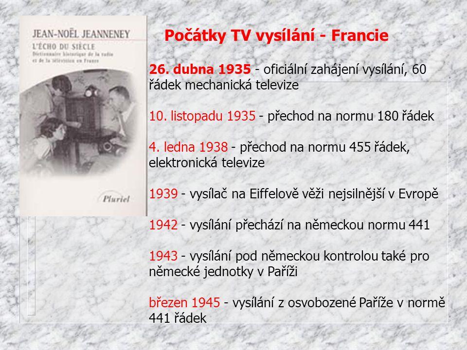 Počátky TV vysílání - Francie