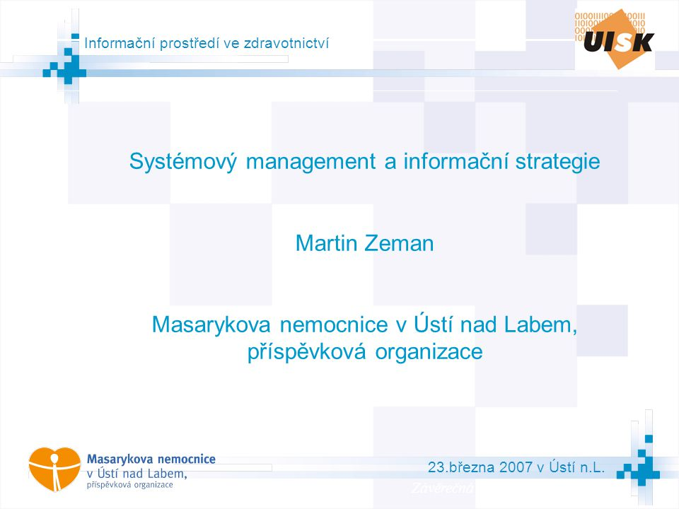 Systémový management a informační strategie