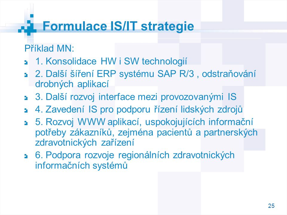 Formulace IS/IT strategie