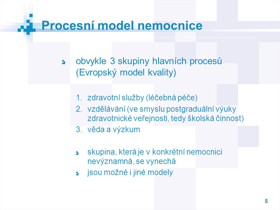 Procesní model nemocnice