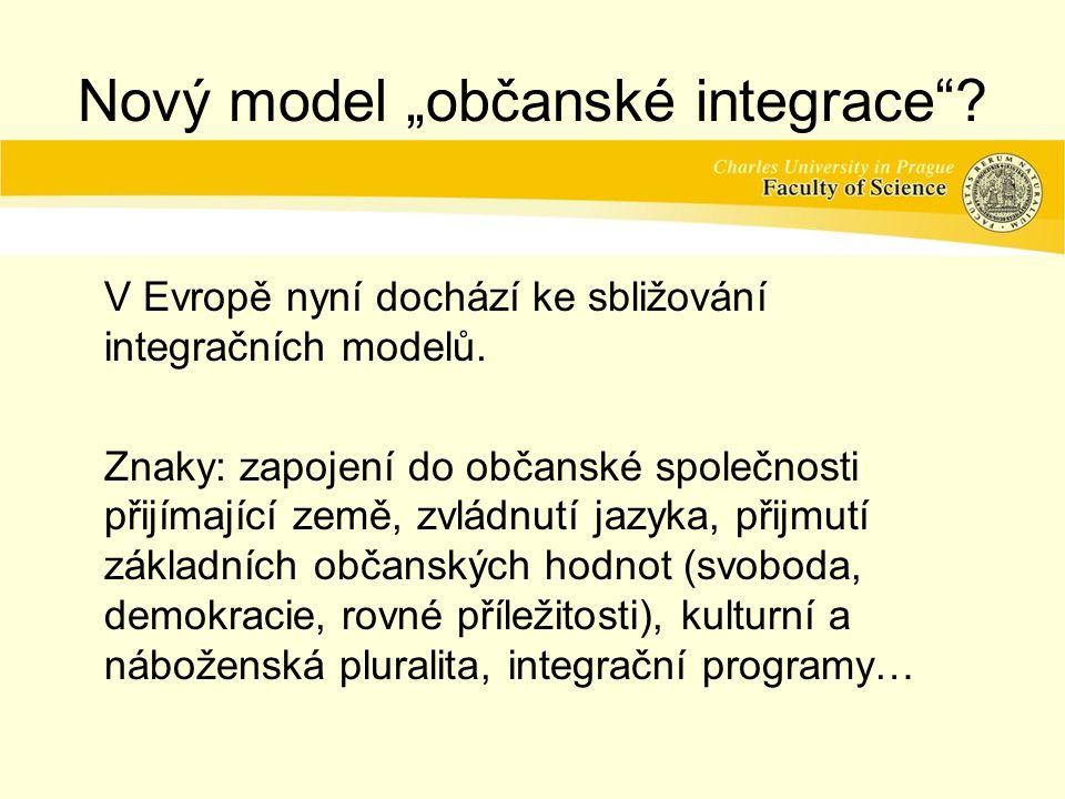"""Nový model """"občanské integrace"""
