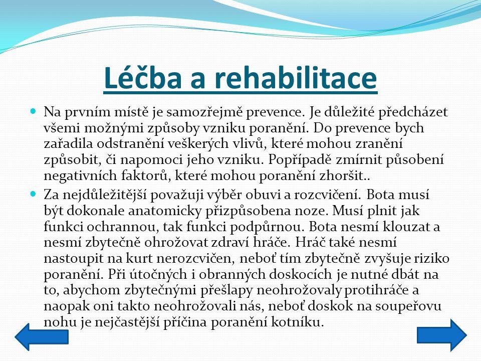 Léčba a rehabilitace