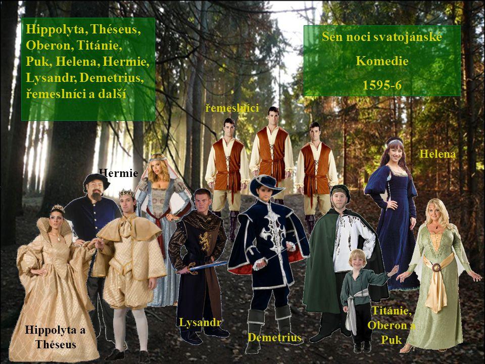 Sen noci svatojánské Komedie 1595-6