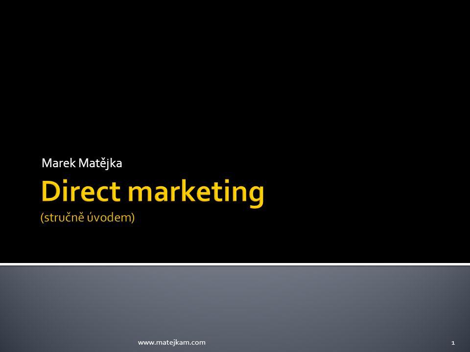 Direct marketing (stručně úvodem)