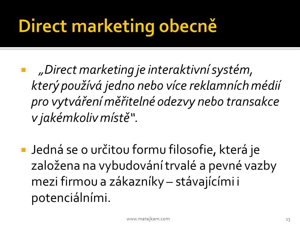 Direct marketing obecně