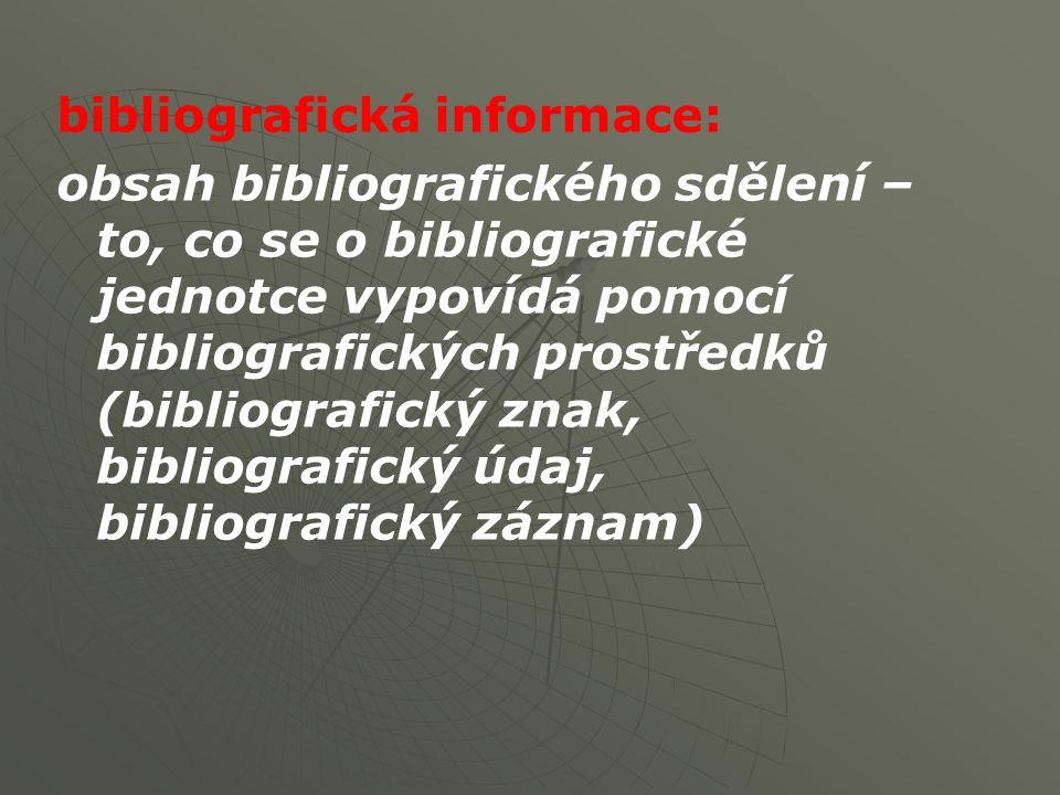 bibliografická informace: