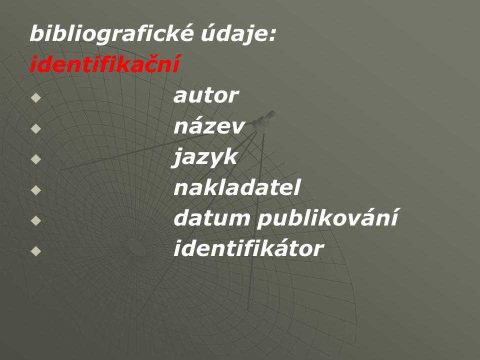 bibliografické údaje: