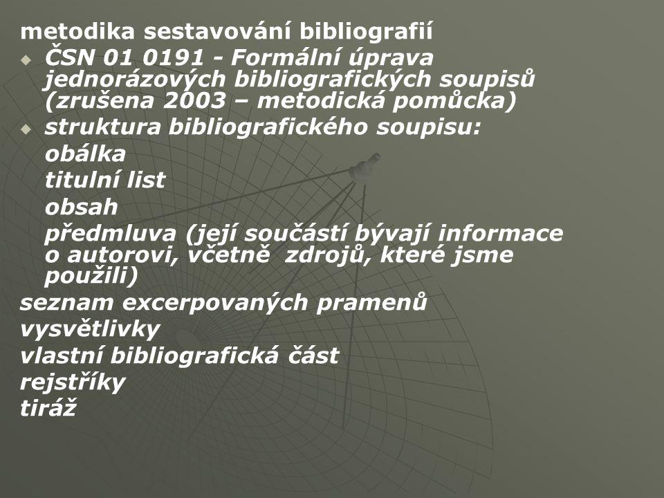 metodika sestavování bibliografií