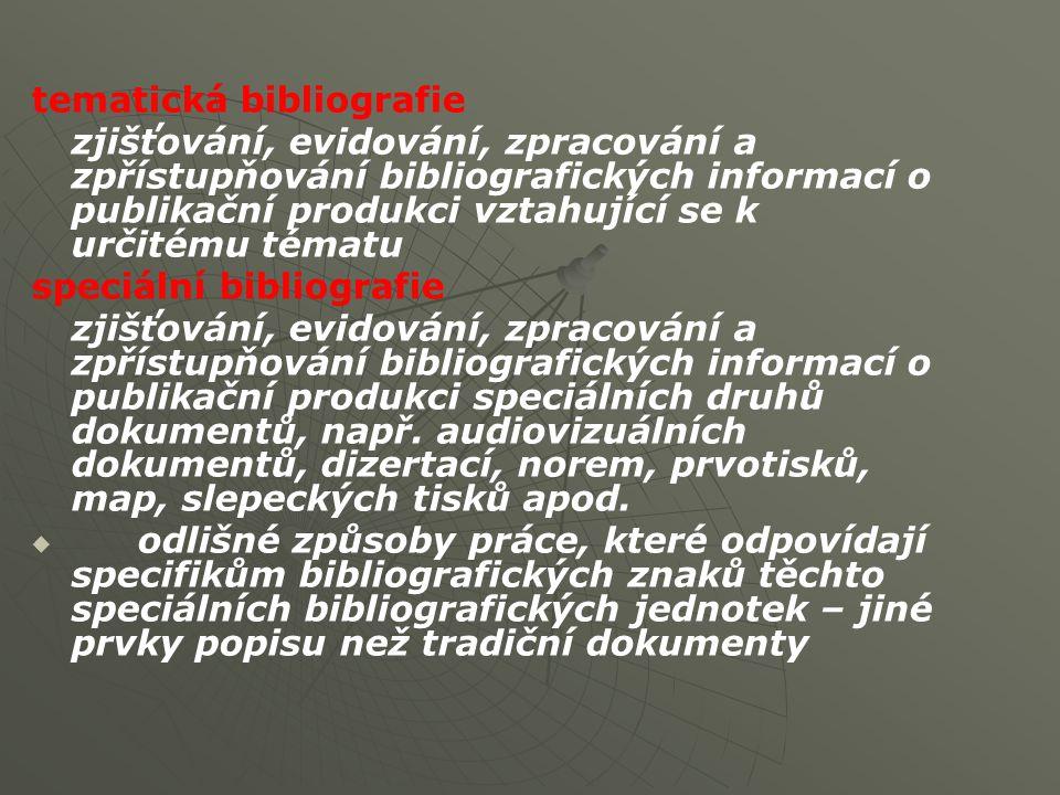 tematická bibliografie