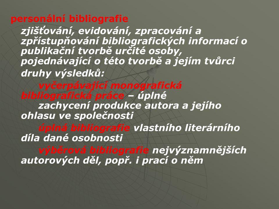 personální bibliografie