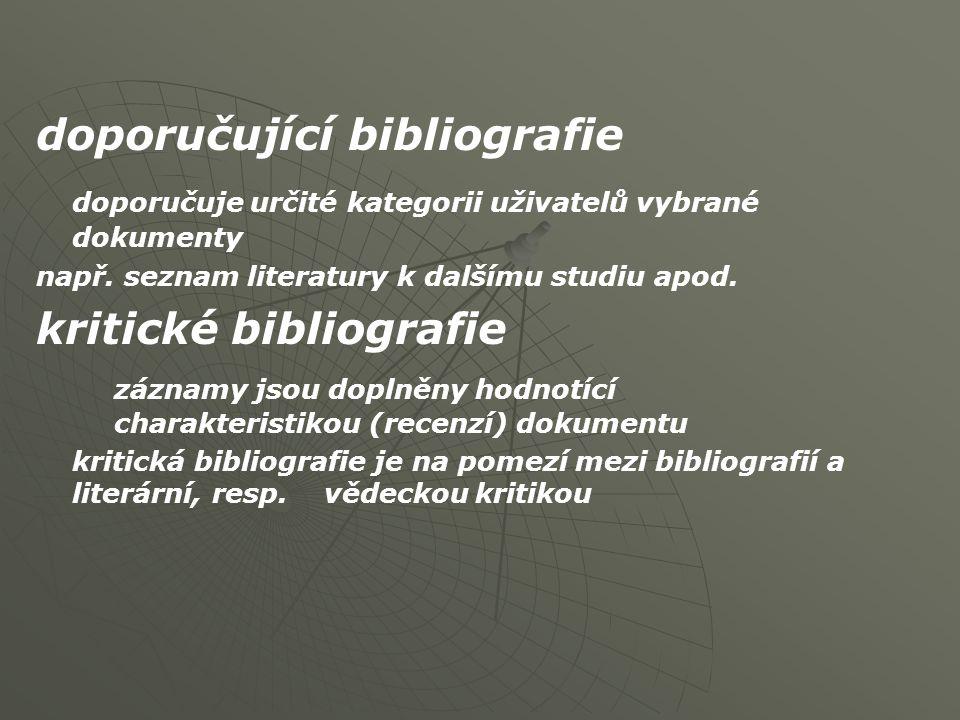 doporučující bibliografie