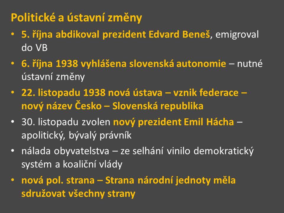 Politické a ústavní změny