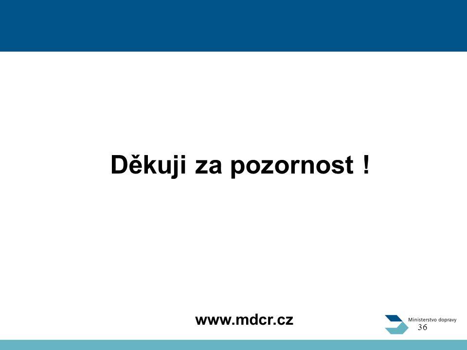 Děkuji za pozornost ! www.mdcr.cz