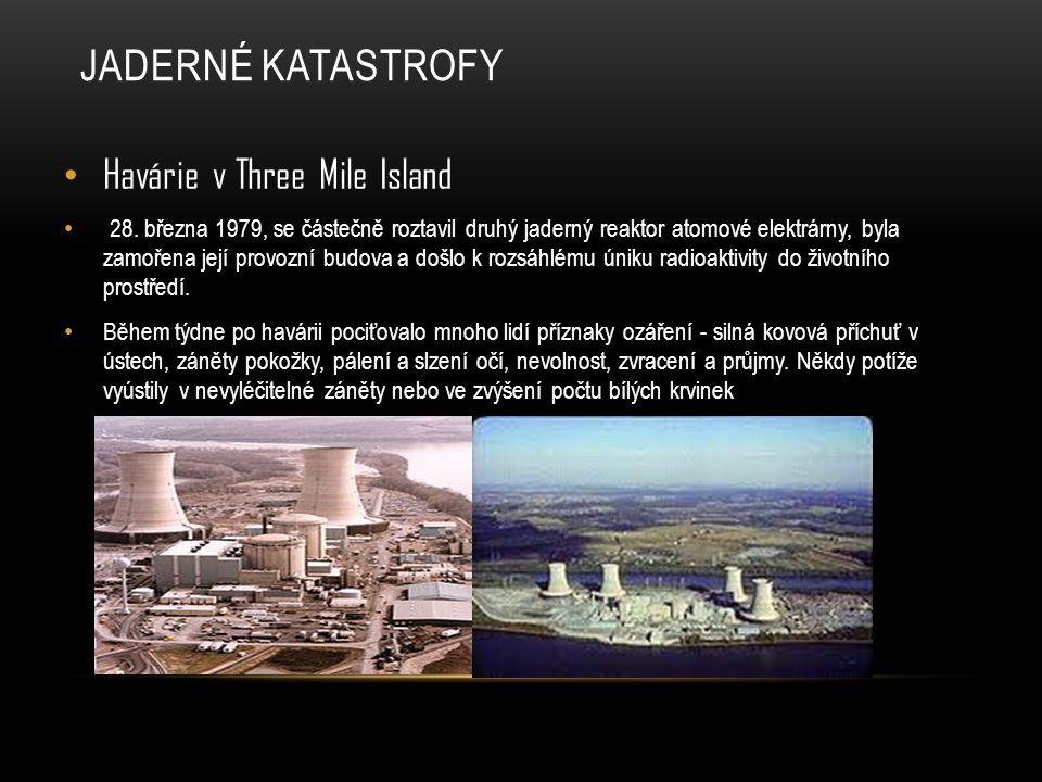 Jaderné katastrofy Havárie v Three Mile Island