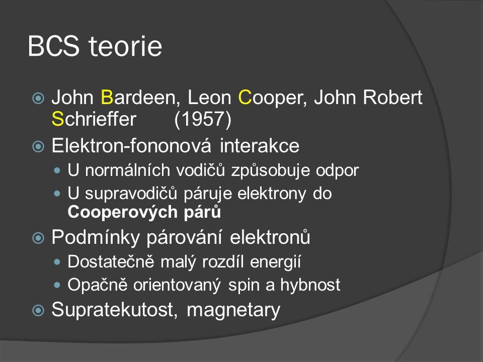 BCS teorie John Bardeen, Leon Cooper, John Robert Schrieffer (1957)