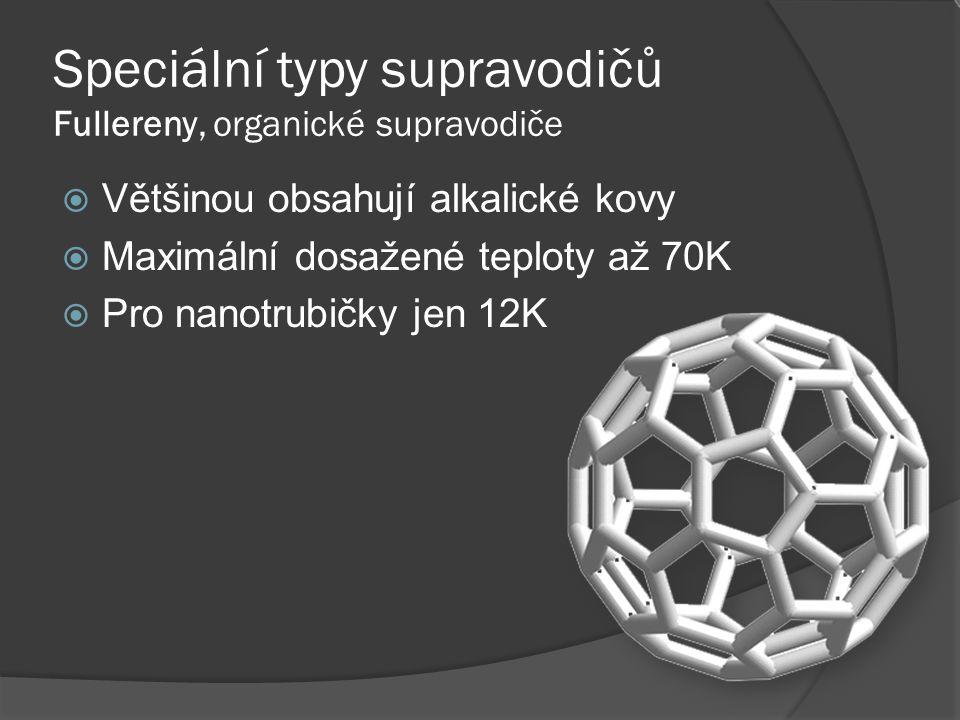 Speciální typy supravodičů Fullereny, organické supravodiče