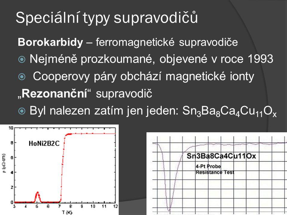 Speciální typy supravodičů
