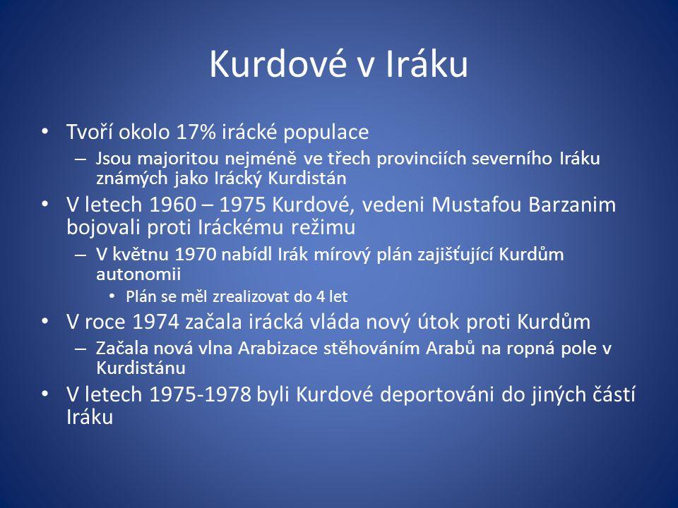 Kurdové v Iráku Tvoří okolo 17% irácké populace