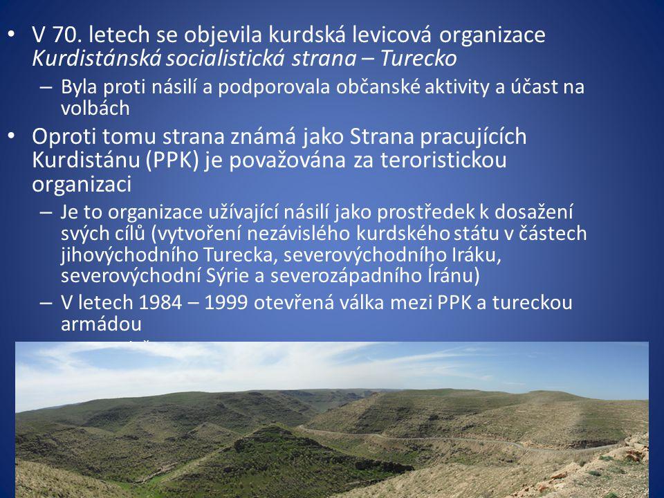 V 70. letech se objevila kurdská levicová organizace Kurdistánská socialistická strana – Turecko