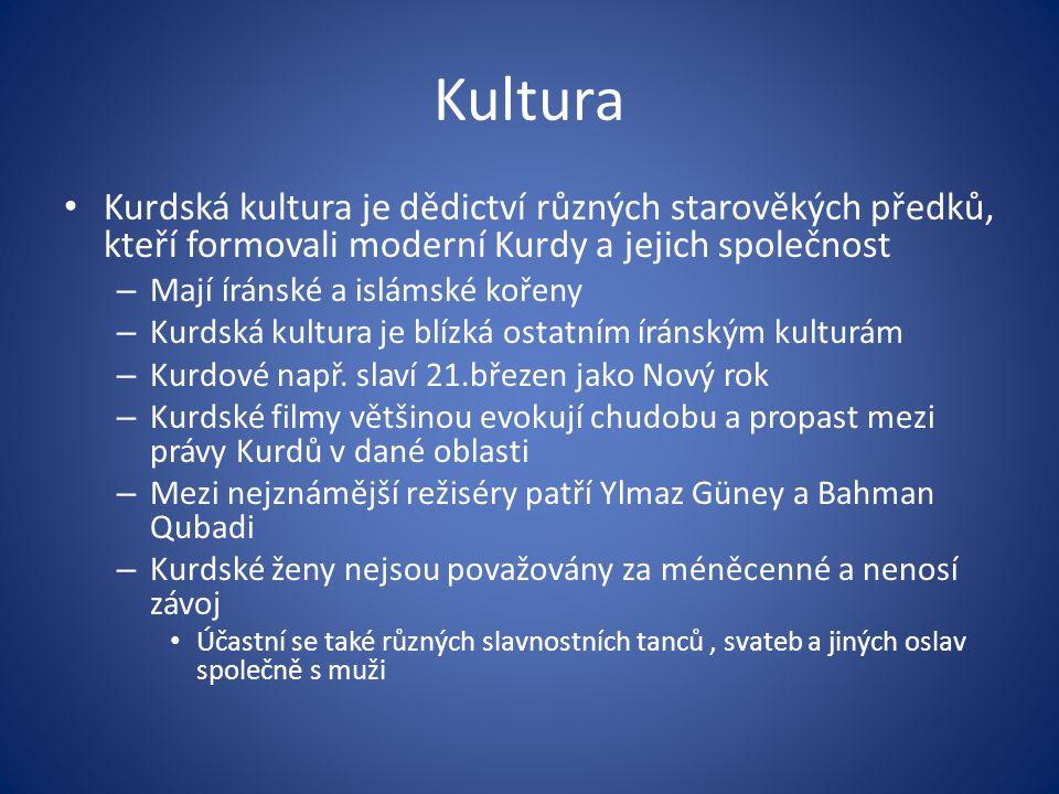 Kultura Kurdská kultura je dědictví různých starověkých předků, kteří formovali moderní Kurdy a jejich společnost.