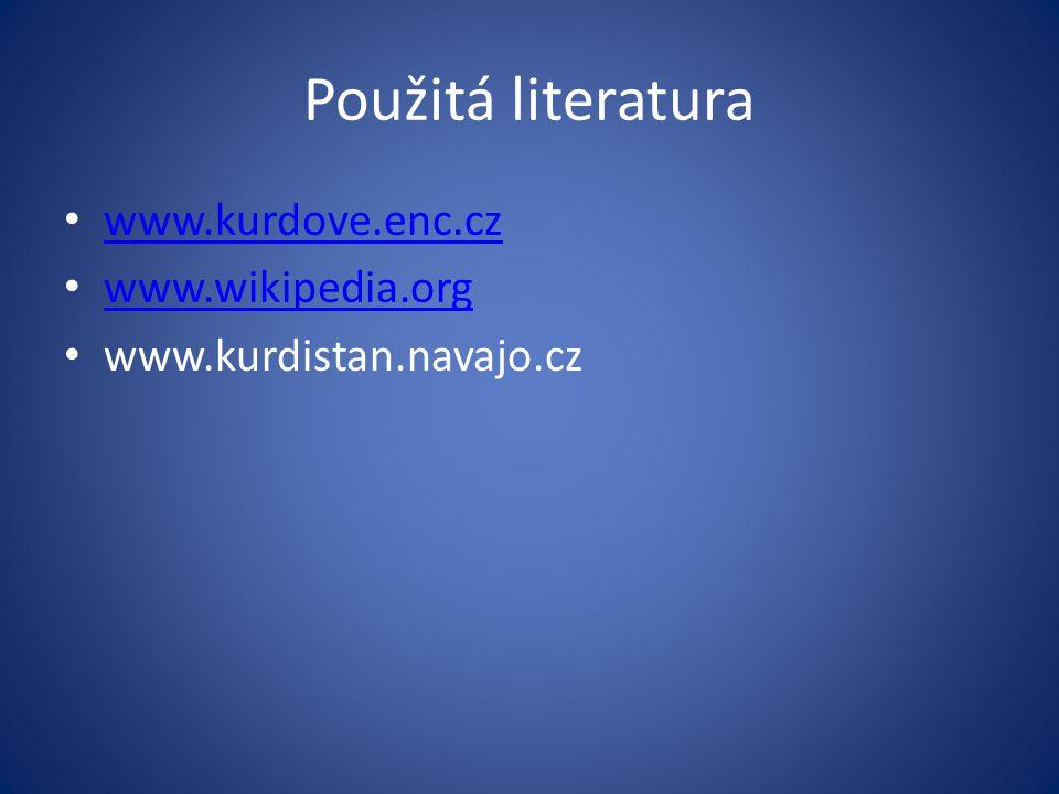 Použitá literatura www.kurdove.enc.cz www.wikipedia.org