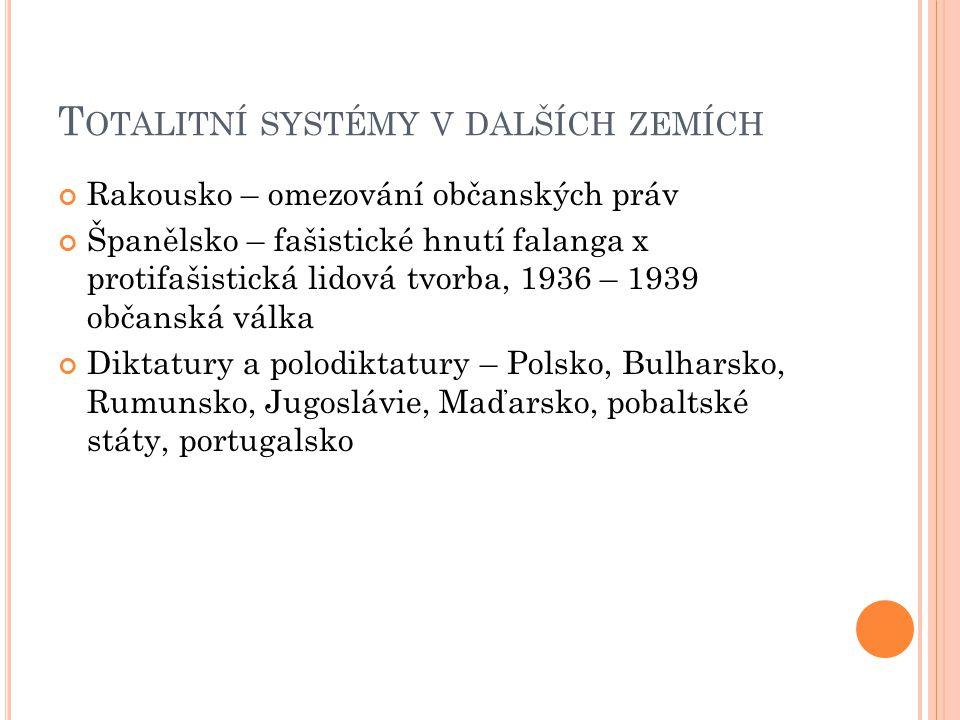 Totalitní systémy v dalších zemích