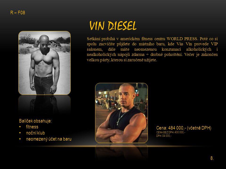 Vin Diesel R – F08 Balíček obsahuje: fitness noční klub