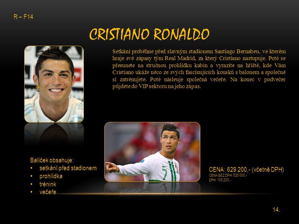 Cristiano Ronaldo R – F14 Balíček obsahuje: setkání před stadionem